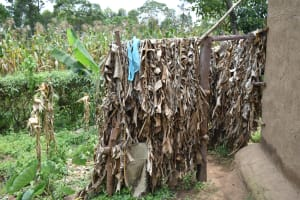 The Water Project: Shamoni Community, Shiundu Spring -  Bathing Shelter