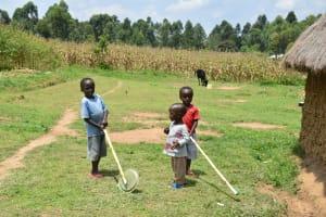 The Water Project: Shamoni Community, Shiundu Spring -  Children Playing