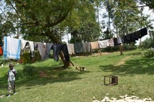 The Water Project: Shamoni Community, Shiundu Spring -  Clothesline