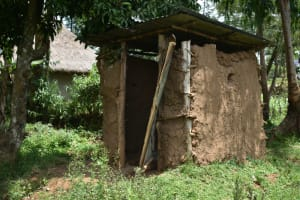 The Water Project: Shamoni Community, Shiundu Spring -  Latrine