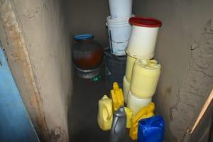 The Water Project: Shamoni Community, Shiundu Spring -  Water Storage