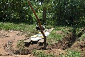 The Water Project: Shamoni Community, Shiundu Spring -  Improvised Dishrack