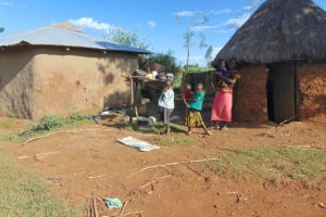 The Water Project: Indulusia Community, Osanya Spring -  A Family At Home