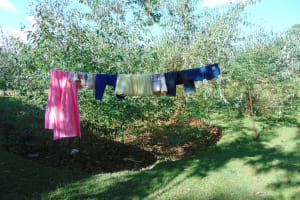 The Water Project: Indulusia Community, Osanya Spring -  Clothesline