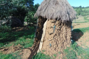The Water Project: Indulusia Community, Osanya Spring -  Latrine