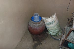 The Water Project: Indulusia Community, Osanya Spring -  Traditional Clay Pot Water Storage