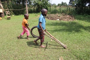 The Water Project: Makhwabuyu Community, Sayia Spring -  Children Playing