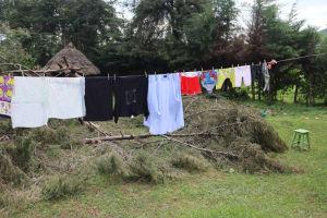 The Water Project: Makhwabuyu Community, Sayia Spring -  Clothesline