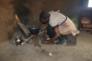 The Water Project: Makhwabuyu Community, Sayia Spring -  Cooking Inside The Kitchen