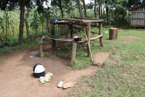 The Water Project: Makhwabuyu Community, Sayia Spring -  Dishrack