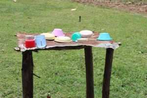 The Water Project: Mayuge Community, Ucheka Spring -  Dishrack