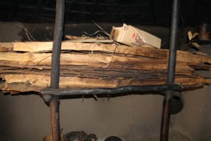 The Water Project: Mayuge Community, Ucheka Spring -  Firewood Store Inside A Kitchen