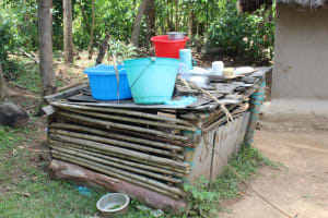 The Water Project: Mayuge Community, Ucheka Spring -  Utensils Drying