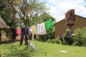 The Water Project: Mayuge Community, Ucheka Spring -  Clothesline