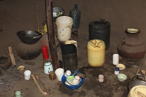 The Water Project: Mayuge Community, Ucheka Spring -  Water Storage Containers