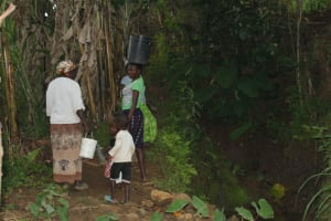 The Water Project: Shibikhwa Community, Musotsi Spring -  Carrying Water