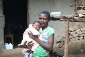 The Water Project: Shibikhwa Community, Musotsi Spring -  Claire With Her Newborn Daughter