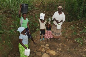 The Water Project: Shibikhwa Community, Musotsi Spring -  Community Members At The Spring