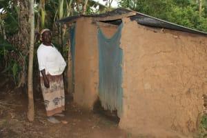 The Water Project: Shibikhwa Community, Musotsi Spring -  Miriam At Her Latrines