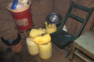 The Water Project: Shibikhwa Community, Musotsi Spring -  Water Storage Containers