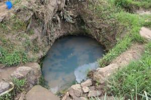 The Water Project: Mukhuyu Community, Gideon Kakai Chelagat Spring -  Algae Filled Spring