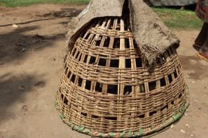 The Water Project: Mukhuyu Community, Gideon Kakai Chelagat Spring -  Chicken Cage
