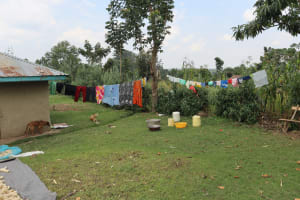 The Water Project: Mukhuyu Community, Gideon Kakai Chelagat Spring -  Clothesline