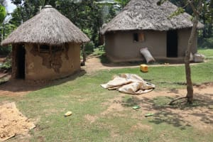 The Water Project: Mukhuyu Community, Gideon Kakai Chelagat Spring -  Maize Store Rooms