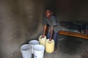 The Water Project: Mukhuyu Community, Gideon Kakai Chelagat Spring -  Adding To Water Storage