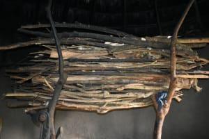 The Water Project: Makale Community, Kwalukhayiro Spring -  Firewood Rack Inside Kitchen