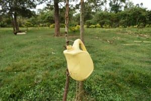 The Water Project: Makale Community, Kwalukhayiro Spring -  Leacky Tin For Handwashing