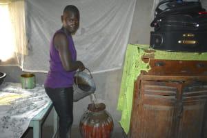The Water Project: Makale Community, Kwalukhayiro Spring -  Adding To Drinking Water Storage
