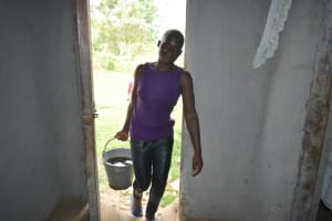 The Water Project: Makale Community, Kwalukhayiro Spring -  Arriving Home With Water