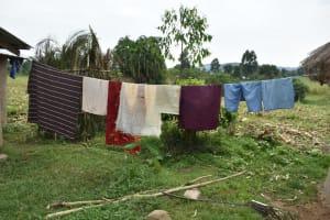 The Water Project: Wepika Community, Musa Mmasi Shikwe Spring -  Clothesline