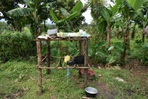 The Water Project: Wepika Community, Musa Mmasi Shikwe Spring -  Dishrack