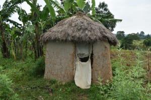 The Water Project: Wepika Community, Musa Mmasi Shikwe Spring -  Latrine
