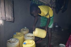 The Water Project: Wepika Community, Musa Mmasi Shikwe Spring -  Storing Water
