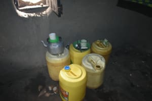 The Water Project: Wepika Community, Musa Mmasi Shikwe Spring -  Water Storage Containers