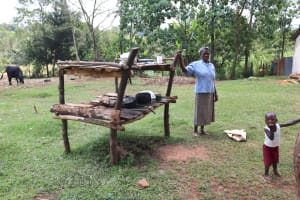 The Water Project: Mukhonje B Community, Peter Yakhama Spring -  At The Dishrack