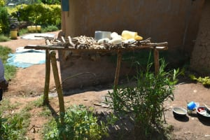 The Water Project: Lunyinya Community, Makunga Spring -  Dishrack