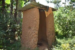 The Water Project: Lunyinya Community, Makunga Spring -  Latrine