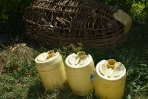 The Water Project: Lunyinya Community, Makunga Spring -  Water Storage