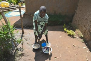 The Water Project: Lunyinya Community, Makunga Spring -  Washing Utensils