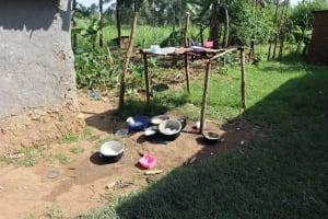 The Water Project: Mwera Community, Mukunga Spring -  Dish Rack