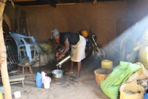 The Water Project: Mwera Community, Mukunga Spring -  Esther Cooking In The Kitchen