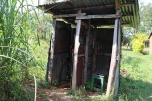 The Water Project: Mwera Community, Mukunga Spring -  Latrine And Bathing Shelter