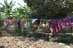 The Water Project: Makunga Community, Tabarachi Spring -  Clothes Drying On Fence