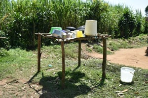 The Water Project: Makunga Community, Tabarachi Spring -  Dishrack