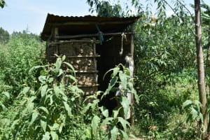 The Water Project: Makunga Community, Tabarachi Spring -  Latrine