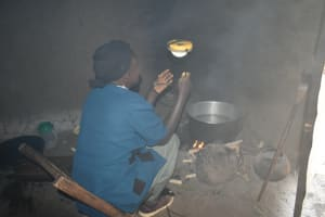 The Water Project: Makunga Community, Tabarachi Spring -  Mrs Agnes Cooking In The Kitchen